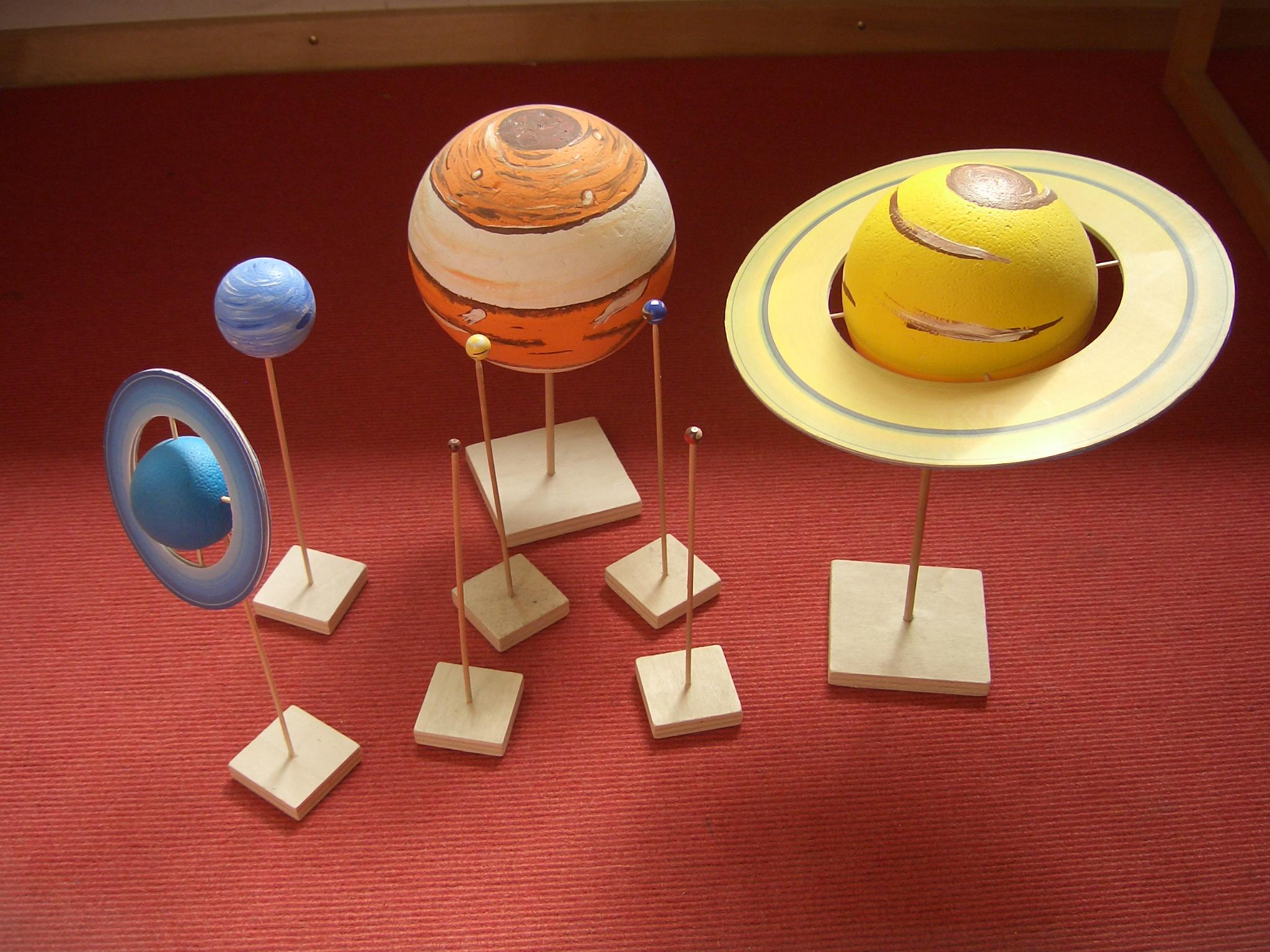 Planetenmodelle mit Textkarten für den Sachunterricht