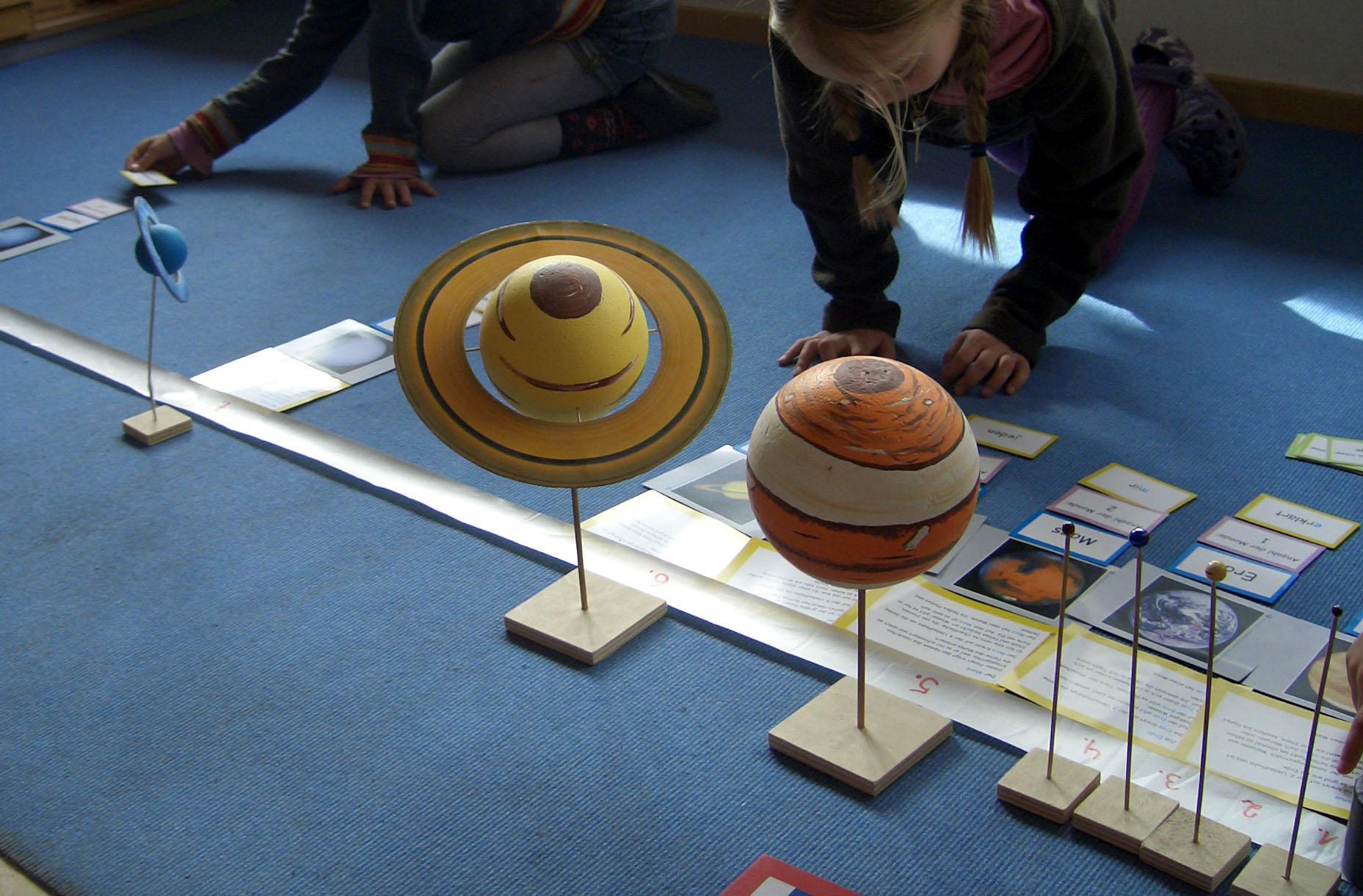 Planeten-Modelle mit Textkarten für den Sachunterricht